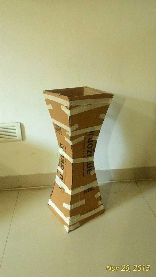 How to make vase from cardboard-4