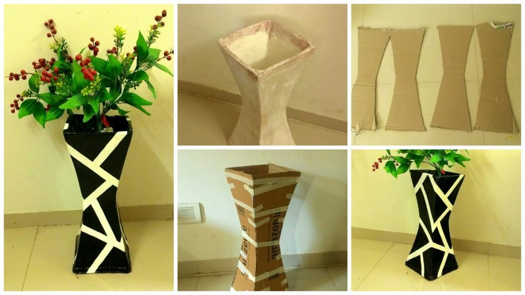 How To Make Vase From Cardboard Craft Community