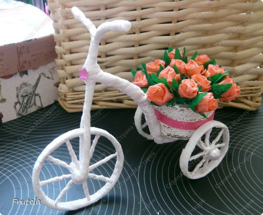 Diy How To Make Flower Bike Step By Step Crazzy Crafts