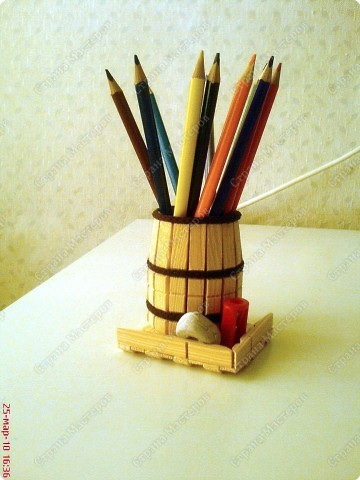 How To Make Popsicle Stick Pens Amp Pencils Stand Craft