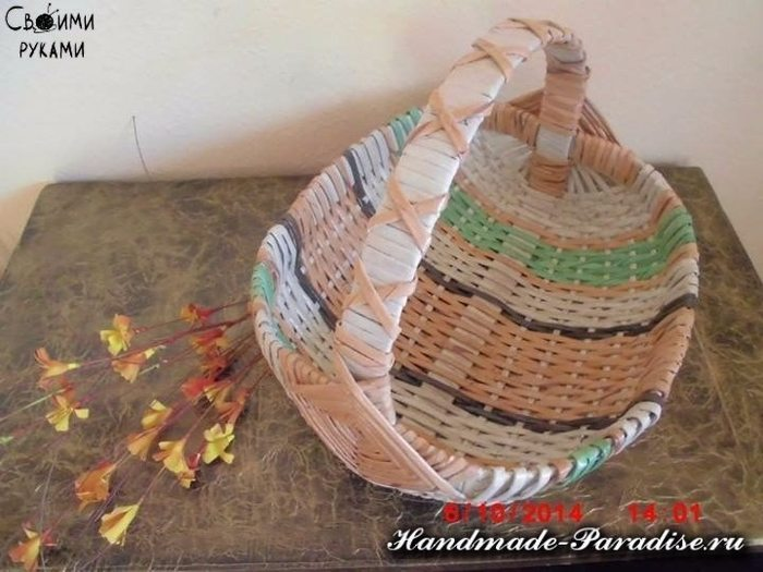 How To Make Weave Basket From Newspaper 1