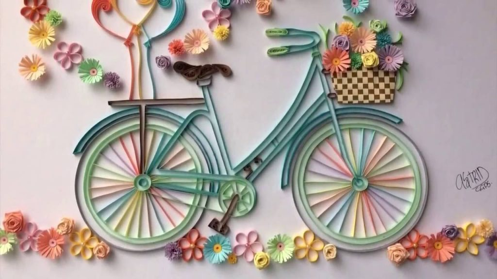 How To Make Quilling Bicycle With Flowers Crazzy Crafts