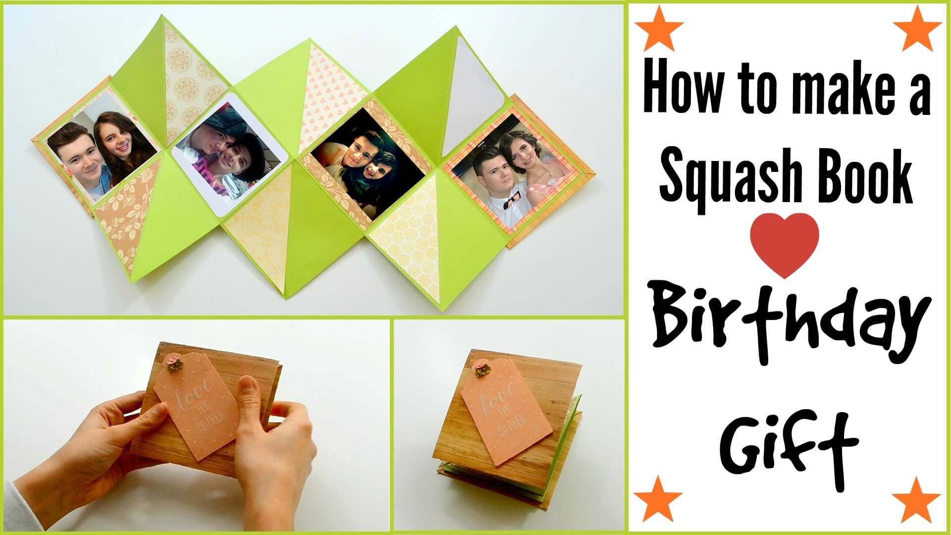 How to make a squash card book diy paper crafts for How to make craft