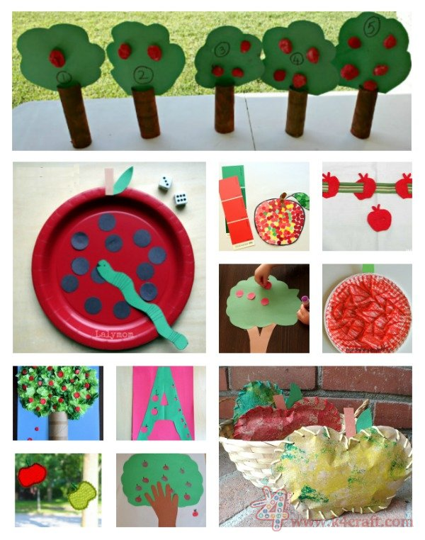 Apple-School-Bus-and-Pencil-Themed-Back-to-School-Crafts-for-kids