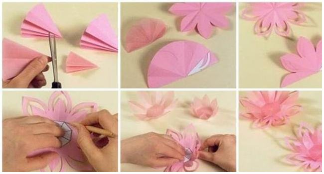 Diy how to make a paper lotus candle holder craft community for How to make a lotus with paper