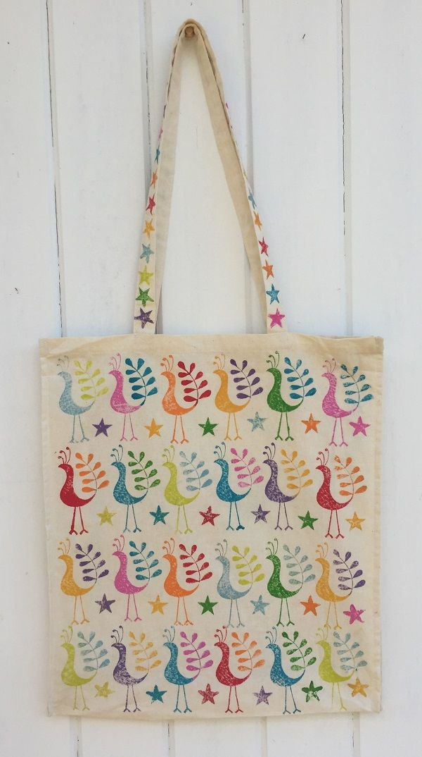 craft ideas  block painting on tote bag