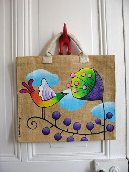 Craft Ideas Block Painting on Tote Bag Craft Community