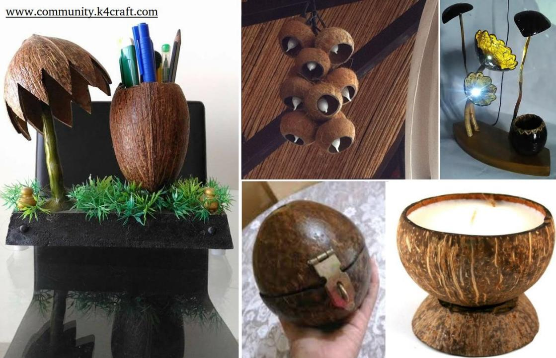 8 Most Creative Coconut Shell Crafts Craft Community