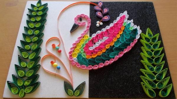 Diy home decor with paper quilling art craft community for Arts and crafts to make at home