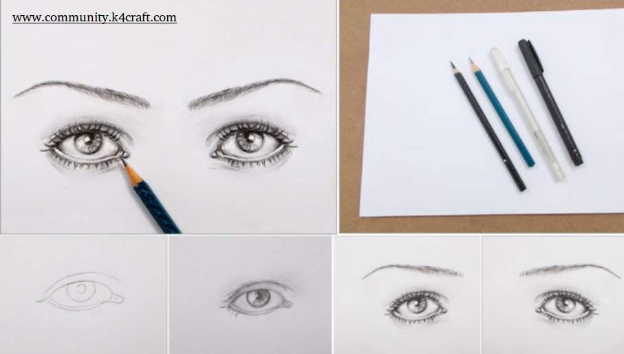 Diy pencil sketching tutorial how to make realistic eyes