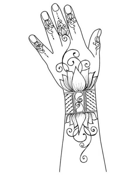 classy mehndi designs for hands step by step