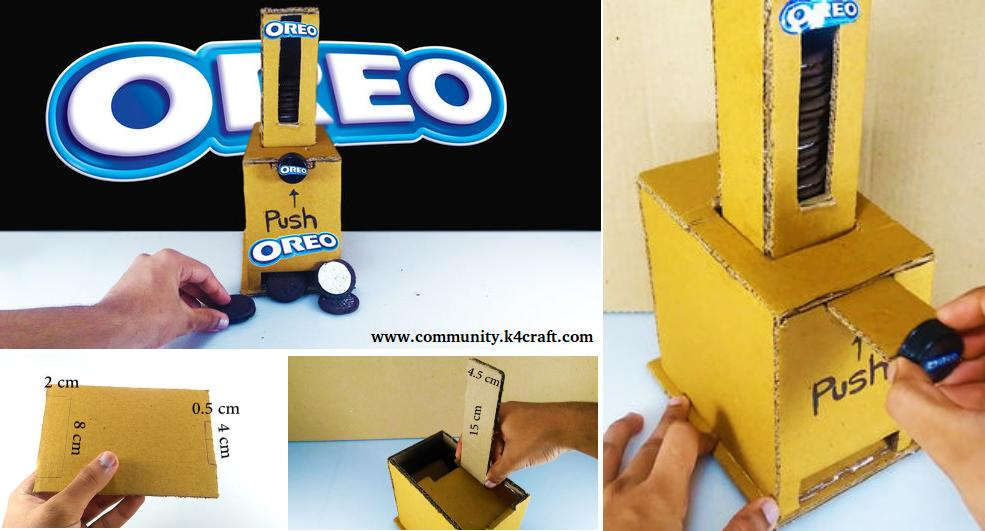 How to make oreo vending machine at home