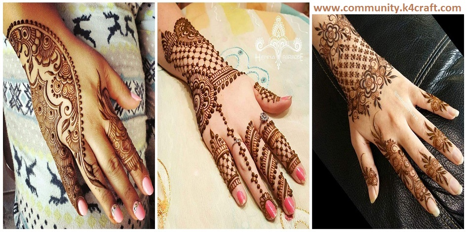 Latest Arabic Mehndi Designs Collection For Back Hand 2017 2018