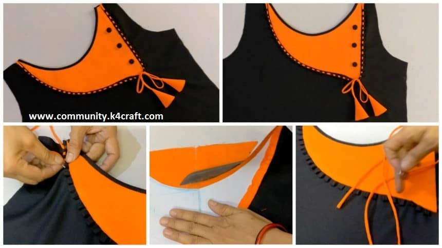 How to Make Neck Design (Boat Neck) Cutting And Stitching ...