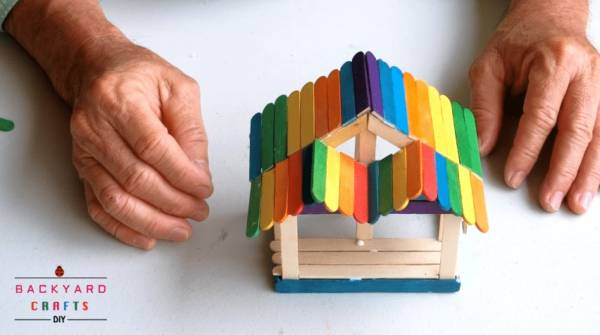 how to make popsicle house