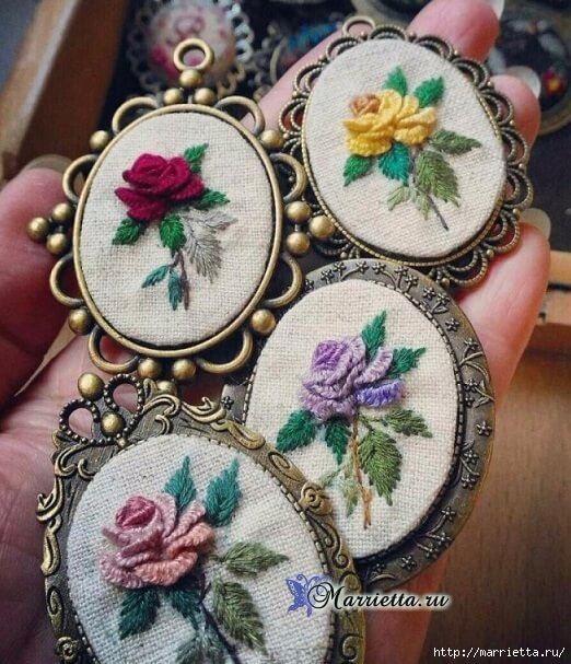 how to make a beautiful rococo rose embroidery