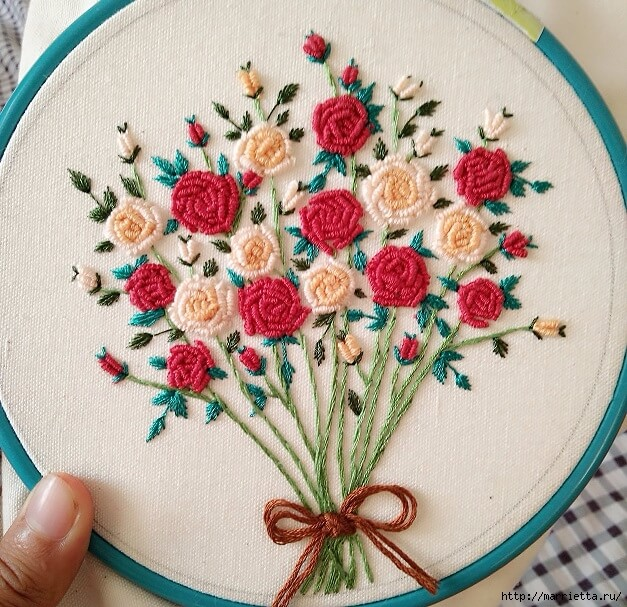 How To Make A Beautiful Rococo Rose Embroidery Craft