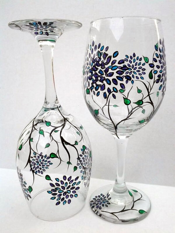 20 Easy Glass Painting Ideas Diy Glass Paint Crazzy Crafts