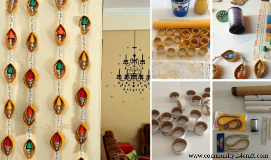 Recycled Craft: Wall Hanging with Tissue Paper Rolls - Craft Community