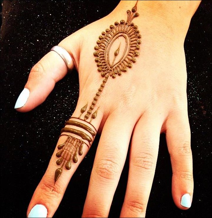 Easy And Simple Ring Mehndi Designs For Fingers