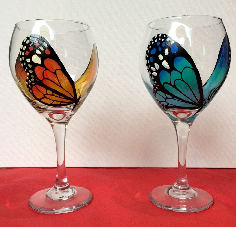Ideas archives crazzy crafts for Painted wine glasses