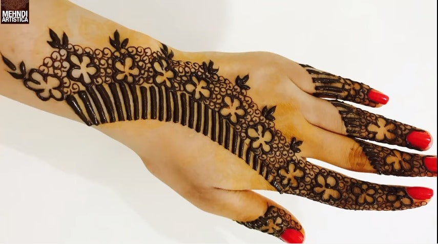 Unique Floral Mehndi Designs For Hands Step By
