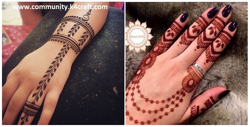 Mehndi Easy Design : Easy and simple ring mehndi designs for fingers craft community