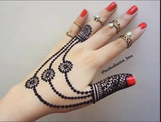 Mehndi Design Images : Easy simple jewellery ornamental henna mehndi designs for hands