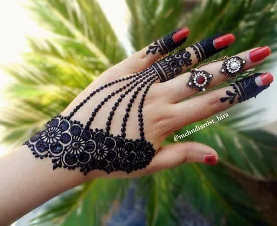 Mehndi For The Inspired Artist : Easy simple jewellery ornamental henna mehndi designs for hands