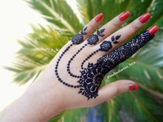 Latest Jewellery Mehndi Design Arresidency