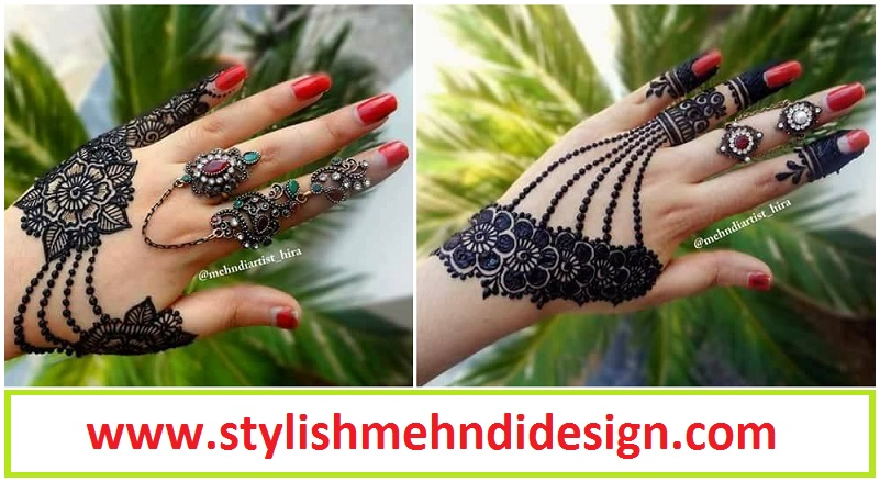 Easy Simple Jewellery Ornamental Henna Mehndi Designs For Hands