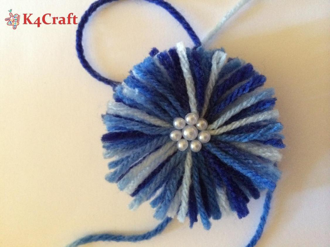 Woolen and pearl rakhi for contest craft community for Pearl arts and crafts closing