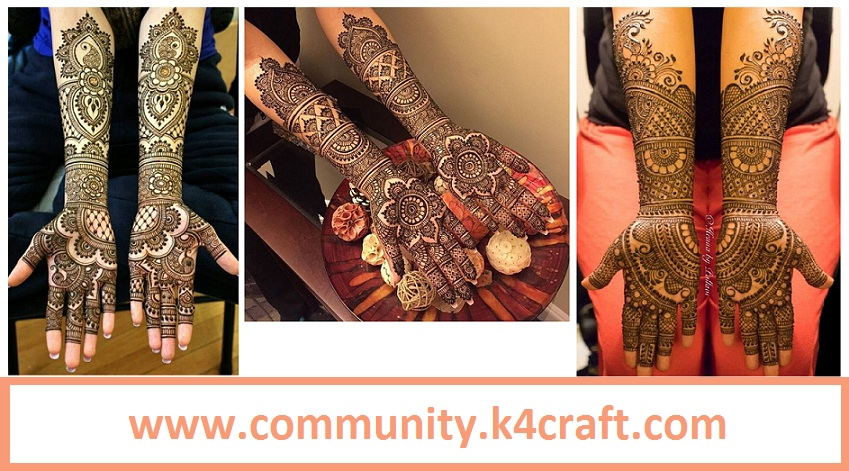 Mehndi Bridal Mehndi Design : Latest bridal mehndi designs for full hands craft community