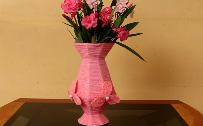 How To Make Flower Vase From Cardboard Craft Community