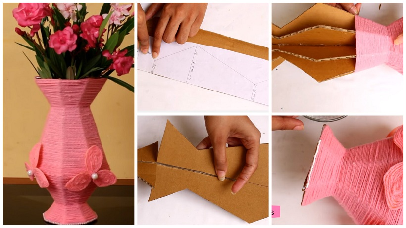 How To Make A Flower Vase Out Of Paper From Cardboard Craft Community