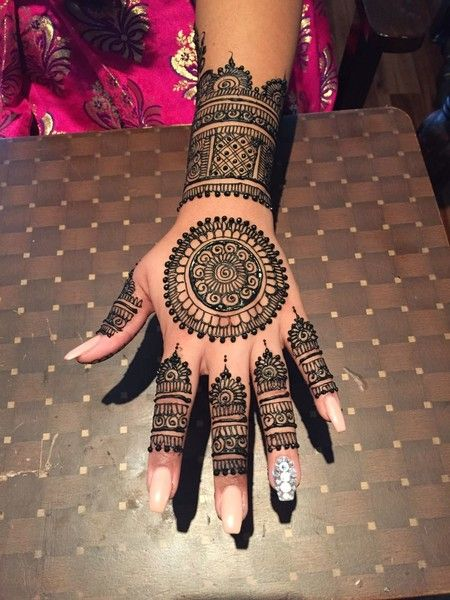 Intricate Henna Designs: Circle Mehndi Designs For Hands